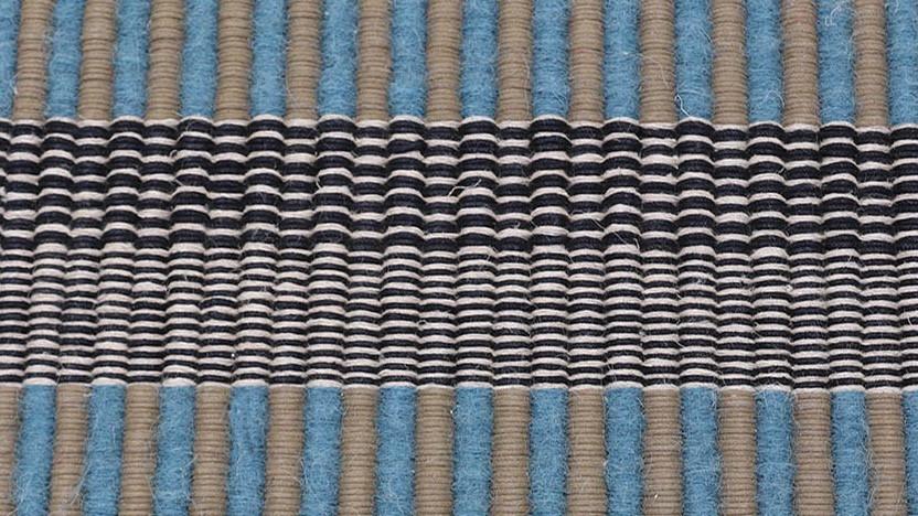MADHE, Tapis PERRINE tissé-main en coton, lin et laine