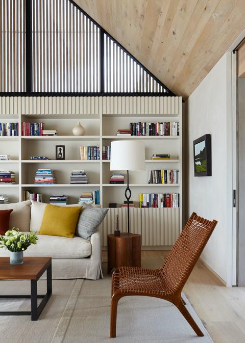 Architecte d'intérieur : Erica Millar, coussins faits-main par PERRINE