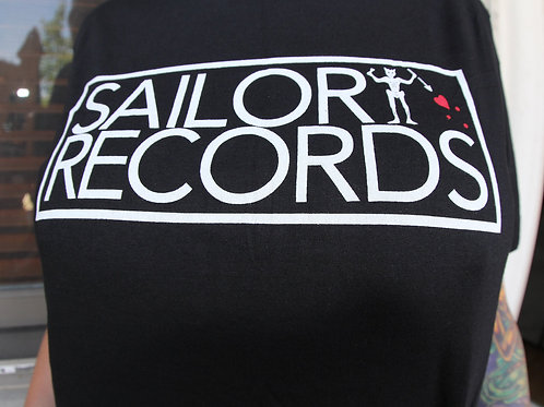 SAILOR RECORDS' - Black Tshirt