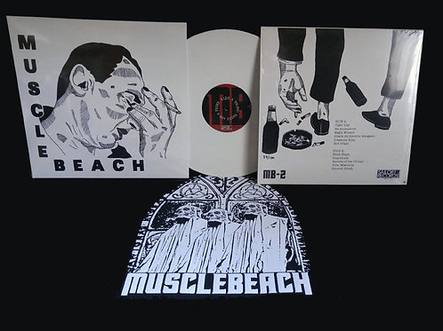 MUSCLE BEACH - Limited Ed. White Album w/ Patch