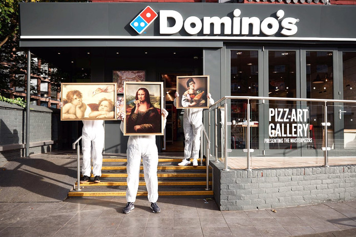 Dominos - Master Pizza _ Oil Painting _