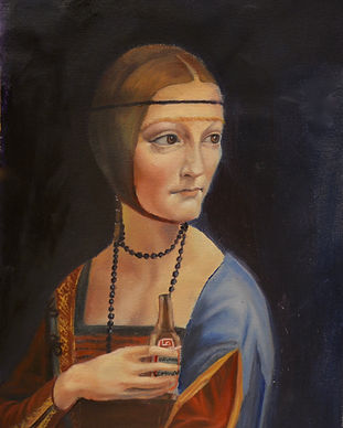 Lady with an Ermine oil painting