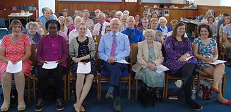 A section of the congregation at Psalms