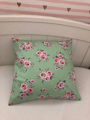 Green Floral Cushion