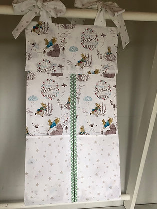 White Peter Rabbit Nappy Stacker