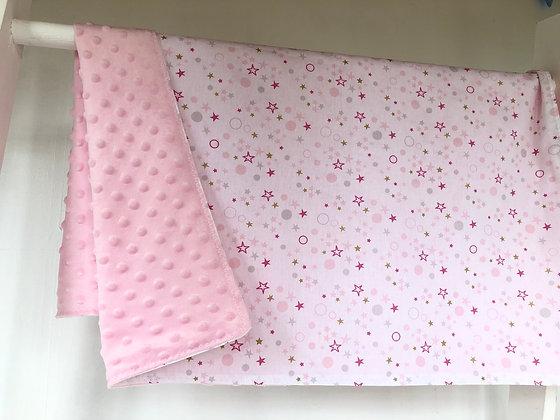 Lightweight Pink Fleece Blanket.