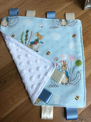 Peter Rabbit Dimpled Fleece Baby Comforter
