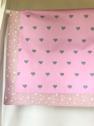 Cute Pink with Grey Hearts Blanket