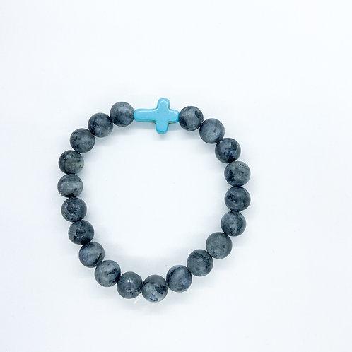 Praying For Payton Blue Cross Bracelet