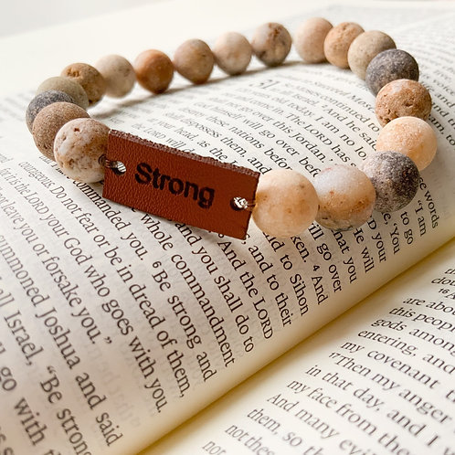 Inspirational Bracelet - Strong