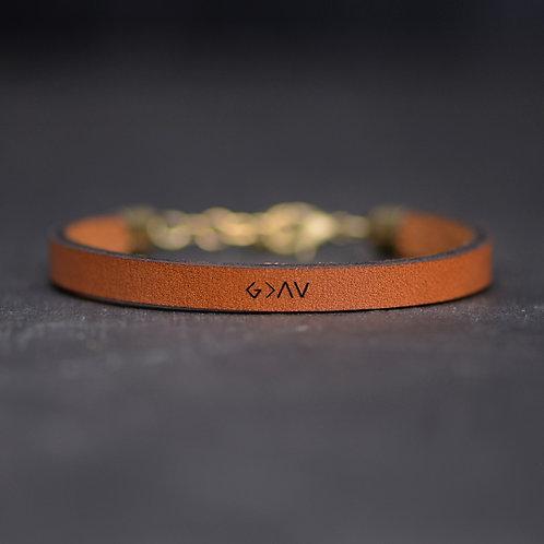 God is Greater Leather Bracelet