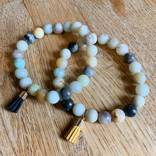Sea Stone Tassel Bracelet