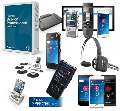 Dictation Products, Dictation Software, Philips SpeechLive, Dragon software