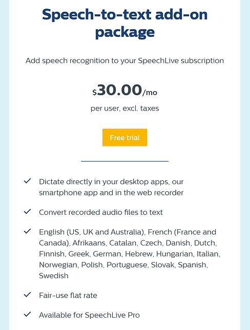 SpeechLive Speech Recognition