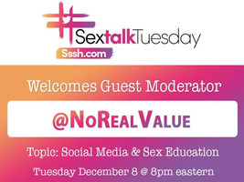 #SexTalkTuesday Welcomes Sex Educator Joe Evans as Special Guest Moderator on December 8th