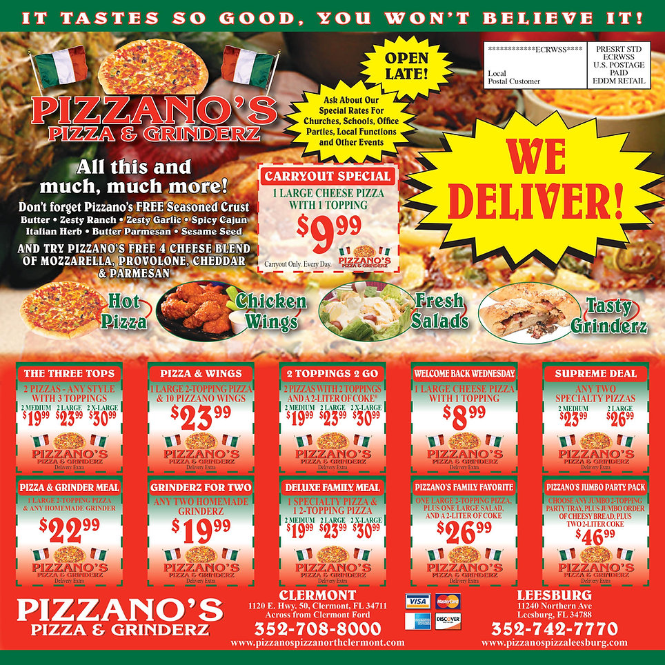 Pizzano's Coupons