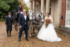 Matt & Paula With the Horses & Carriage, Old Rectory, Wem