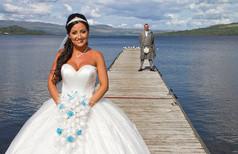 Bride & Groom on Jetty, The Cruin, Loch Lomond