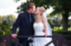 Bride & Groom Kiss on the Bridge, Western House Hotel