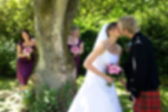 Bride & Groom Kissing, Kincaid House Hotel