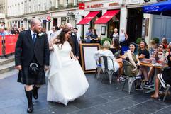 The Bride & Groom Meet Their Public, Sloan's Bar Wedding, Glasgow.