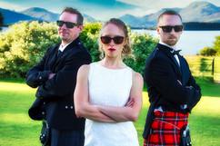 The Bride & Her Henchmen, Ross Hall Loch Lomond.
