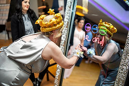 Happy Client Signing on the Magic Mirror