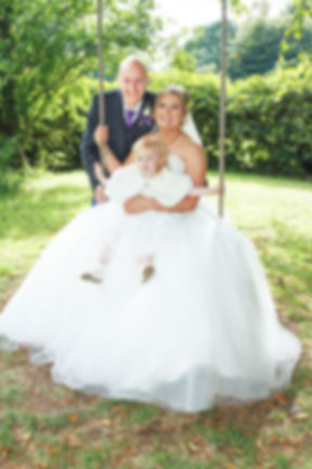 Bride, Groom & Daughter, Balbirnie House Hotel, Glenrothes