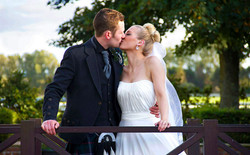 Bride & Groom Kiss. Western House Hotel