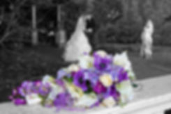 Bride & Groom Kiss in the Garden, Bothwell Bridge Hotel