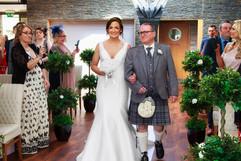 The Bride & Her Dad Walk Down The Aisle, The Vu, Bathgate.