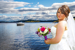 The Beautiful Bride Poses on the Bonnie Banks of Loch Lomond