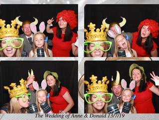 The Wedding of Anne & Donald, Dalmeny Park Hotel, Barrhead, 13th July 2019