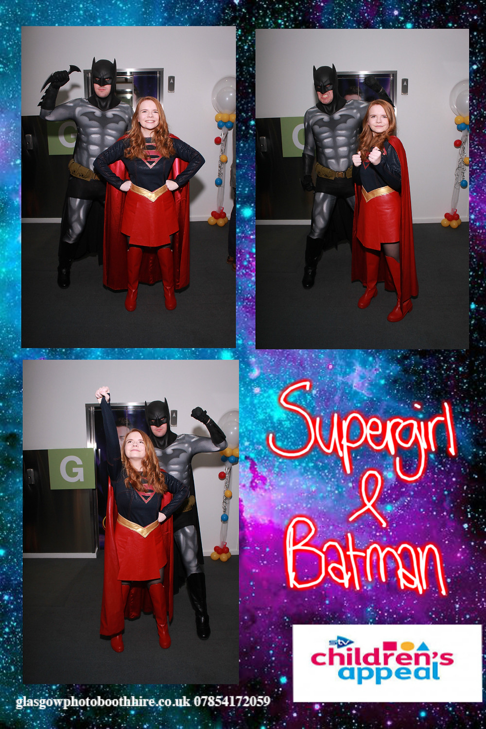Batman & Supergirl at the Stv Children's Appeal