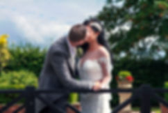 Bride & Groom Kissing at the Western House Hotel