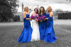 Bride & Her Bridesmaids, Kelvingrove Park, Glasgow