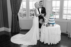 Bride & Groom Cut Their Cake, Ross Hall, Loch Lomond