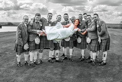 Groomsmen Lift The Bride Horizontally, The Vu, Bathgate