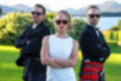 The Bride & Her Bodyguards, Ross Priory, Loch Lomond