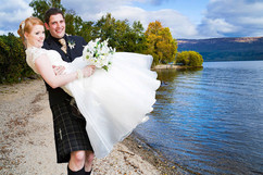 Groom Carrying the Bride, Lodge on the Loch, Loch Lomond