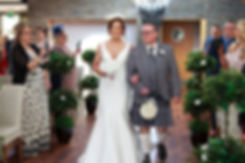 Bride & Father Walking Down the Aisle