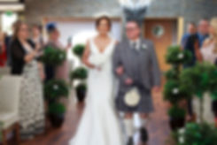 Bride & Her Dad Walking Down the Aisle, The Vu, Bathgate