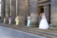 Bride, Groom & Bridesmaids, GOMA, Glasgow