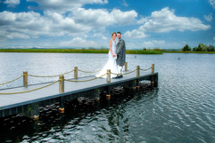 The Bride & Groom on the Jetty, the Vu, Bathgate