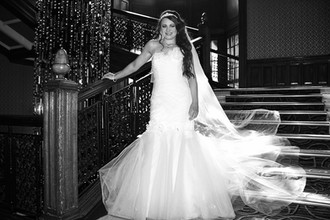 The Beautiful Bride Mhari on the Staircase, Grand Central Hotel, Glasgow