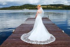 The Beautiful Bride on the Jetty, Duck Bay, Loch Lomond