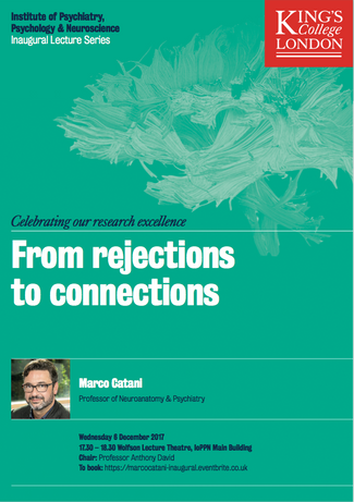 From Rejections to Connections - Inaugural lecture online!