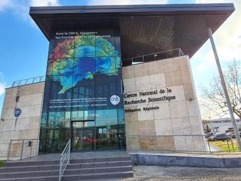Le  @CNRSAquitaine  est fier de vous présenter la nouvelle façade de la délégation
