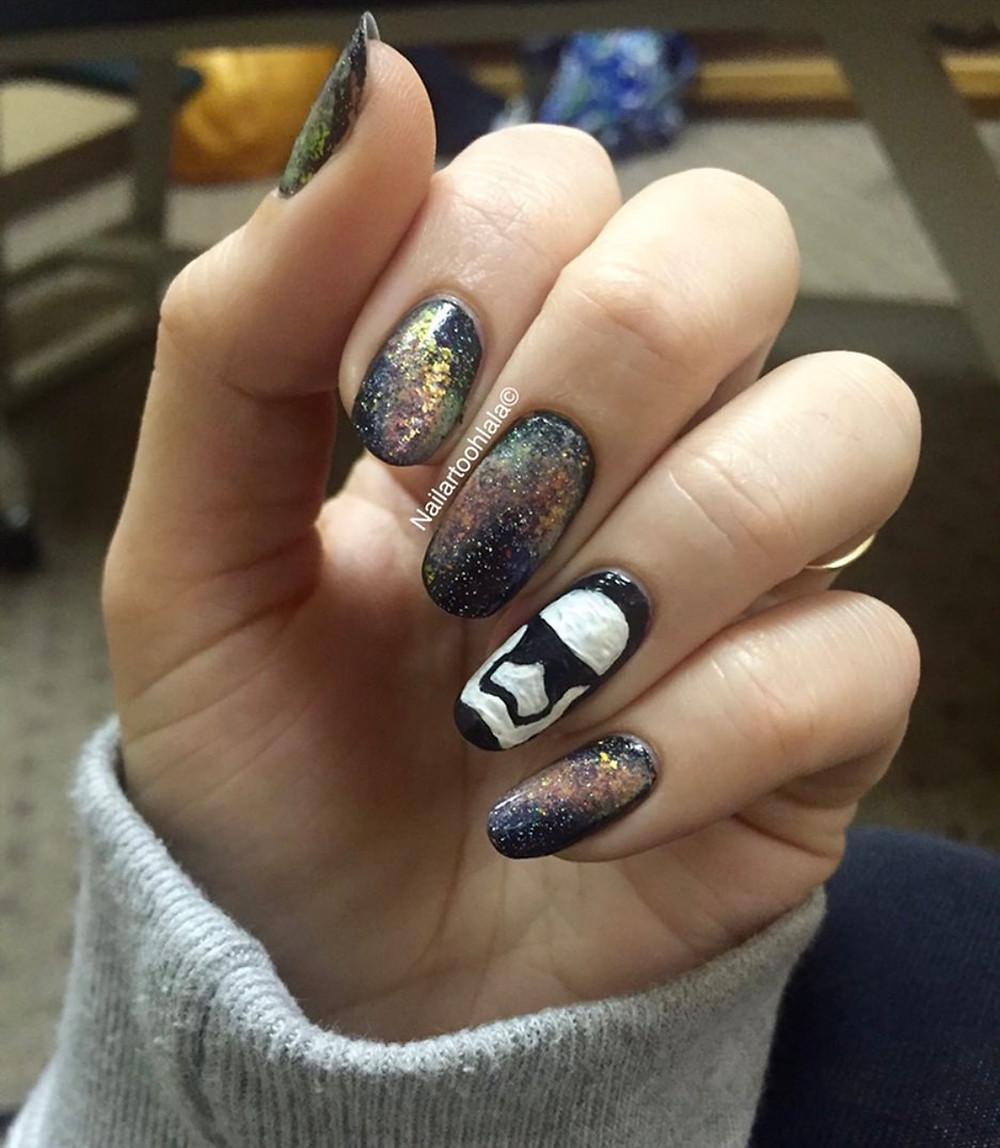 Star Wars inspired nails nail art