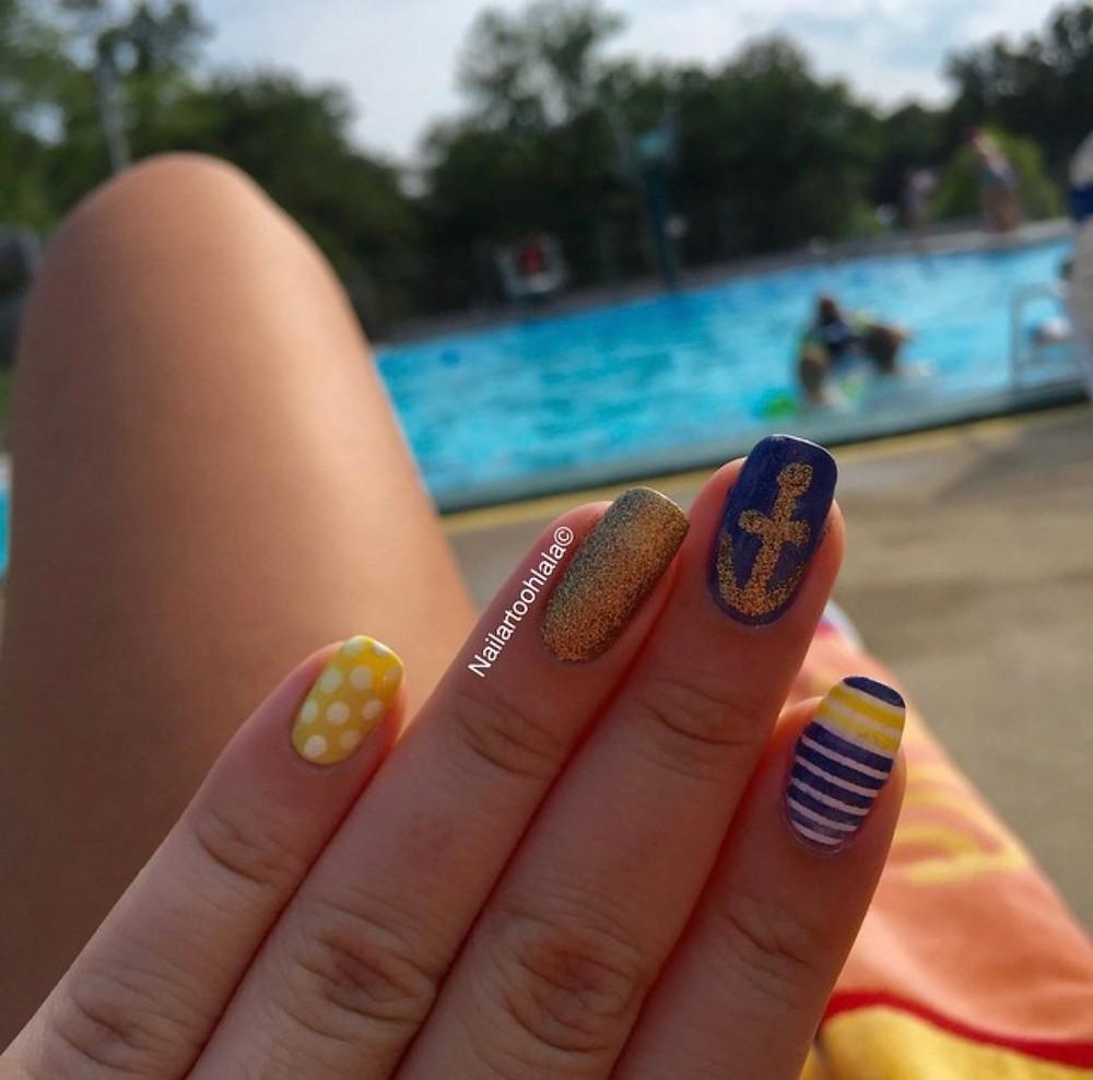 sailor nail art